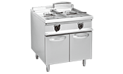 电热双缸双筛炸炉连柜